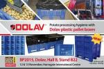 Potato processing hygiene with Dolav plastic box pallet